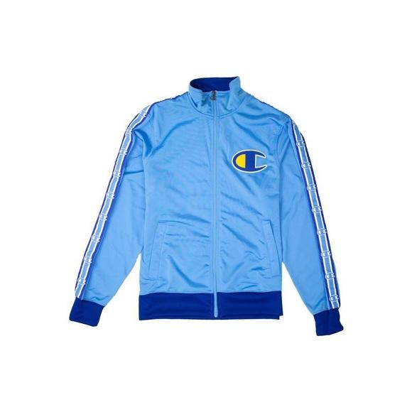 CHAMPION Mens Navy Blue /& Grey Light Fleece TRAINING JACKET TOP Size XL NWT